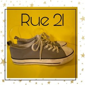 Rue 21 Etc! Taupe Canvas Women's Sneakers 9